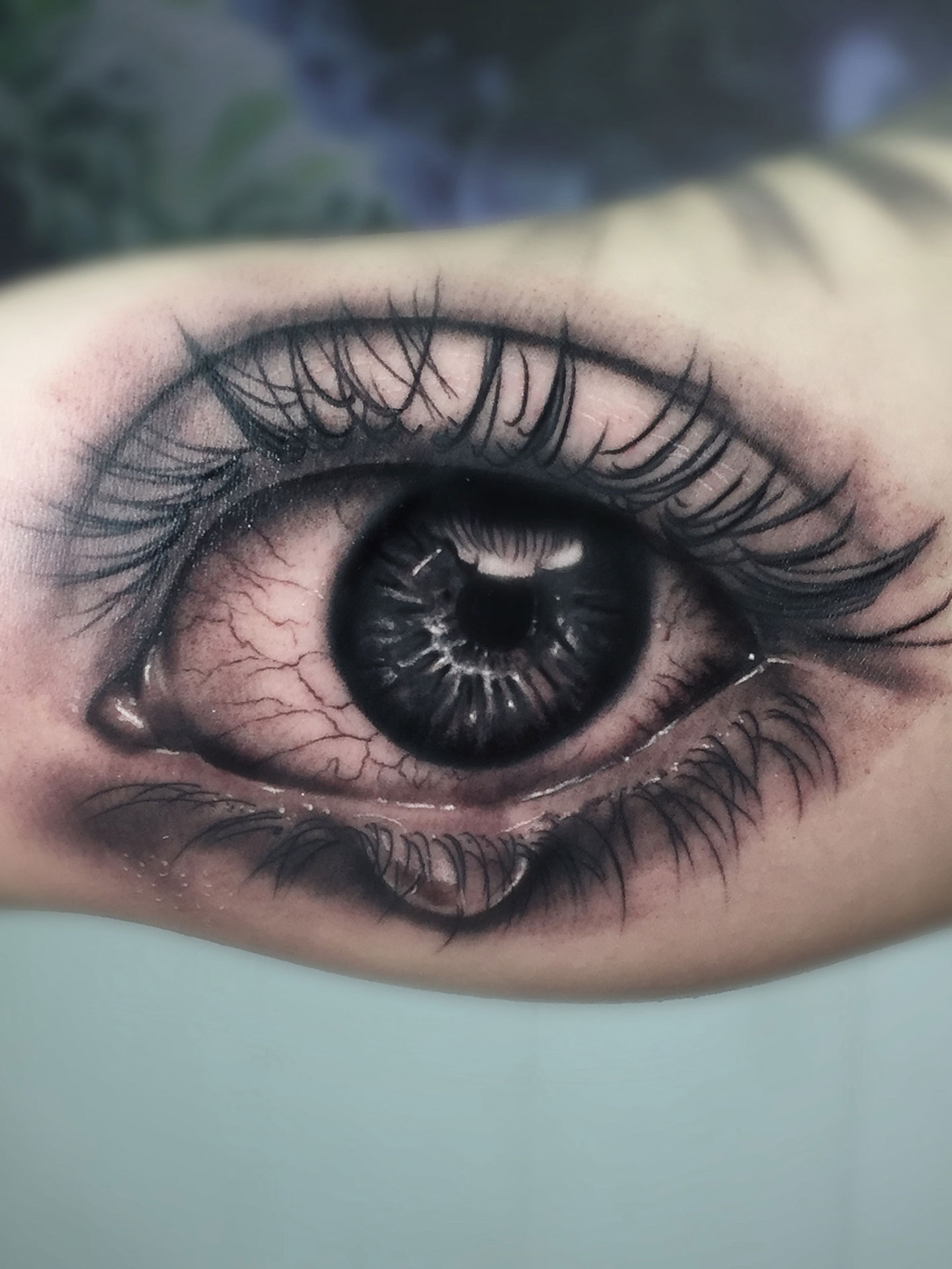 Tatuaje Ojo Lágrima