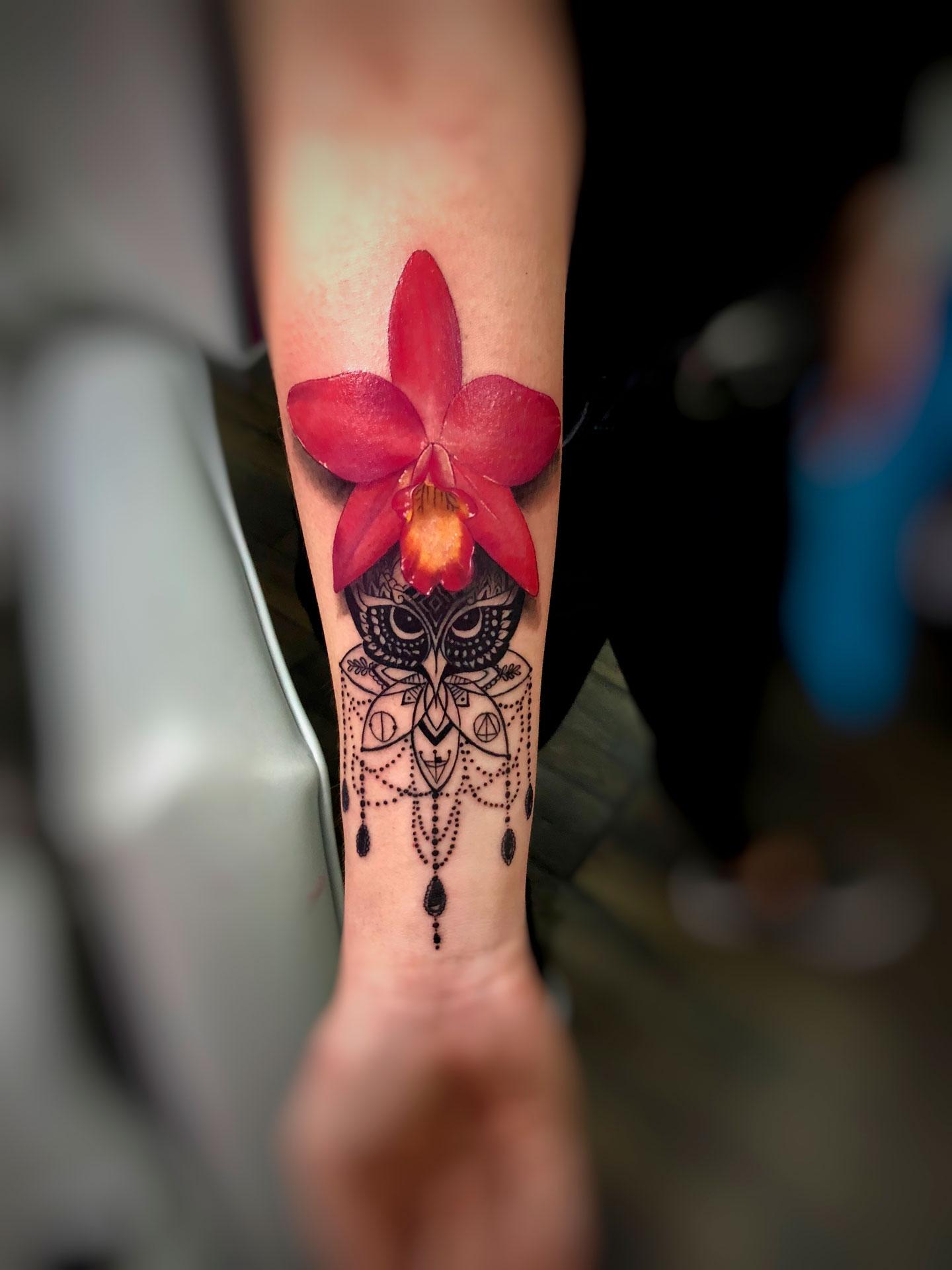 Tatuaje Orquidea